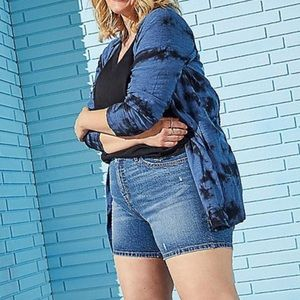 🆕Navy Tie Dye Button Front Cardigan Sweater 3X 22